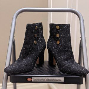 Charles and Keith Vintage Button Detail Calf Boots